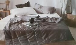 15 Lb Weighted Blanket People Weighing 130-160 Pounds Twin 48x72 Cotton Gray