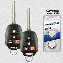 2 For 2012 2013 2014 Toyota Camry Keyless Entry Car Remote Key Fob - G Chip