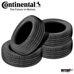 4 X New Continental Contiprocontact 255/45r18 99h All-season Grand Touring Tire