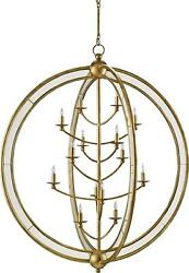 APHRODITE CHANDELIER CURREY & COMPANY GENTLY CURVING ARMS 14-LIGHT LAR