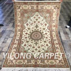 Clearance Yilong 4and039x6and039 Handmade Wool Area Rug Hand Craft Woolen Carpet 2114