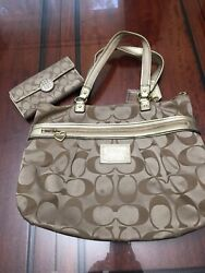 Large Coach bags and wallet used $65.00