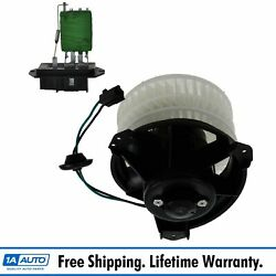 A/c Ac Heater Blower Motor W/ Fan Cage And Resistor Kit Front For Chrysler Dodge