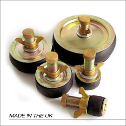 Drain Test Plugs, Bungs With Centre Locking Steel Wing Nut Brass With Sealed Cap