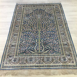 Yilong 4and039x6and039 Tree Of Life Handmade Carpet Small Hand Knotted Silk Area Rug 192a
