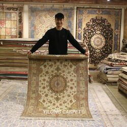 Clearance Yilong 4and039x6and039 Oriental Handmade Wool Area Rug Hand Woven Carpet 2104