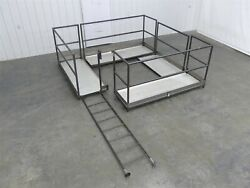 Four Sections Carbon Steel Mezzanine With Ladder