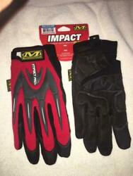 Mechanix Wear Mpact Gloves- Red- Medium- 10 Pack - Close Outs