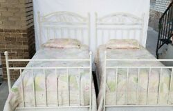 Andnbsppottery Barn Twin Bed Frames With Serta Mattress And Pb Quilt Bedding Mint Cond
