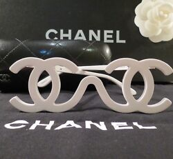 VERY RARE AUTH CHANEL WHITE VINTAGE RUNWAY SAMPLE SUNGLASSES FW 1994 COLLECTORS