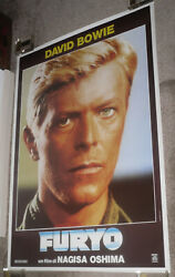 MERRY CHRISTMAS MR. LAWRENCE orig rolled RARE one sheet movie poster DAVID BOWIE