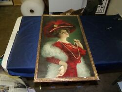 C 1900 Antique Banner Buggies Chromolithograph Advertising Poster/sign