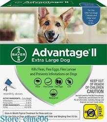 Bayer Advantage II Extra Large For Dogs Over 55 lbs 4 packs Free Shipping $37.71
