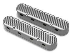 Holley 241-180 2-pc Finned Natural Finish Ls Chevy Valve Covers Ls1 Ls2 Ls3 Lsx