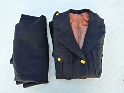 Vintage Us Army Woman's Dress Uniform Black Tunic And Skirt - 36 And 28.5
