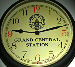 Baltimore And Ohio Rail Road Bando Chicago Grand Central Station Waiting Room Clock