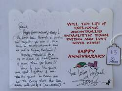 Slash Guns And Roses Handwritten Anniversary Card Signed Autographed Juliens