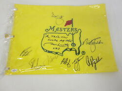 Jim Nance Phil Mickelson Signed Autographed Masters Pin Flag 9 Signatures Coa