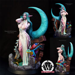 In Stock Tyrande Whisperwind 1/4 Figurine Led Light Painted Faerie Dragon Statue