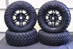 Can Am Commander 800 R 27 Street Legal Tire And 14 Hd7 Smoke Wheel Kit Can1ca