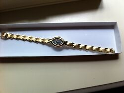 Woman's Watches Black Faced Crystal Gold Elgin Quarts And George Elegant Gold