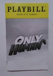 Only Human Playbill - October 2019 - Off-broadway - Gary Busey