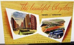 1946 Chrysler Sales Brochure Features Town And Country Woody Windsor New Yorker