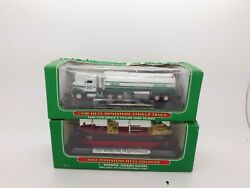Lot 2 Hess Miniatures 1999 Tanker Truck And 2002 Hess Voyager New Original Boxes