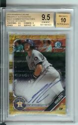 2019 Bowman Chrome Gold Shimmer Refractor Sb Seth Beer Bgs 9.5 Auto 10 13/50