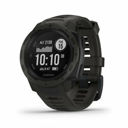 Garmin Instinct Rugged Outdoor Watch With Gps And Heart Rate Monitoring Graphite