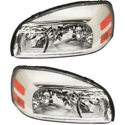 Headlight Lamp Left-and-right For Chevy Gm2503256c, Gm2502256c Lh And Rh Montana