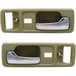Interior Door Handle For 90-93 Honda Accord Front Left And Right Set Of 2 Beige