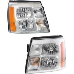 Headlight Lamp Left-and-right Gm2503232 Gm2502232 15181851 15181850 Lh And Rh