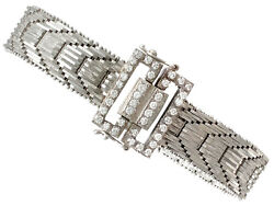 1.20 ct Diamond and 18Carat White Gold Bracelet Art Deco Vintage Circa 1940