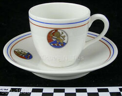 1928 Pennsylvania Army National Guard 2nd Brigade Miltary Demi Cup Saucer Bb