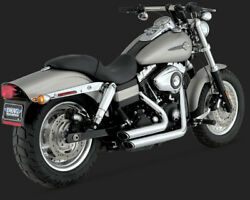 Vance And Hines Shortshots Staggered Chrome For Harley - Davidson Dyna 06 - 11