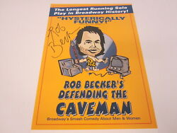 Rob Becker Signed Defending The Caveman Signed Broadway Poster Coa