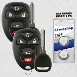 2 For 2012 2013 2014 2015 2016 2017 Buick Enclave Keyless Car Remote Fob + Key
