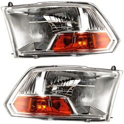 Headlight Lamp Left-and-right For Ram Truck Lh And Rh 1500 Ch2503217, Ch2502217