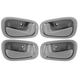 Interior Door Handle For 98-2002 Chevrolet Prizm Front And Rear Gray