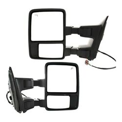 Mirror For 2009-2010 Ford F-350 Super Duty Driver And Passenger Side Set Of 2