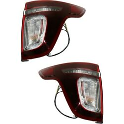 Tail Lights Lamps Set Of 2 Left-and-right Lh And Rh Fo2801230, Fo2800230 Pair