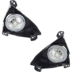 Pair Set Of 2 Fog Lights Lamps Front Left-and-right Lh And Rh Ma2593126, Ma2592126