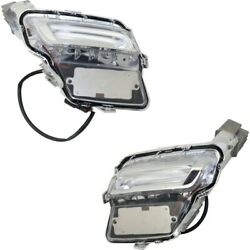 Pair Set Of 2 Parking Lights Lamps Left-and-right Lh And Rh Vo2521114, 314203936