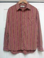 Vintage Tommy Bahama 100 Silk Button Down Mens L Reddish Brown 70and039s Looking