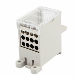 100-type Wire Terminal Block 1 Inlet 12 Outlet For Miniature Circuit Breakers