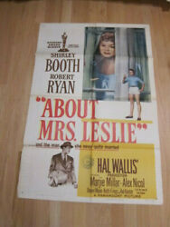 About Mrs. Leslie 1sh 1954 Shirley Booth, Robert Ryan