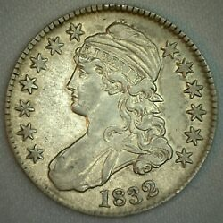 1832 Us Half Dollar Capped Bust Small Letters Silver Almost Uncirculated 50c