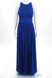 Badgley Mischka Collection Womens Corundum Sapphire Gown $790 Size 4 10416409