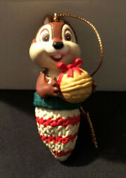 Chip In Mitten Holding Nut Disney Grolier Ornament With Original Packaging Dale